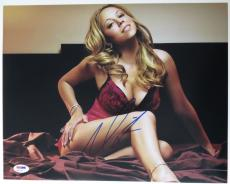 Mariah Carey Signed Sexy Authentic Autographed 11x14 Photo (PSA/DNA) #Q31141