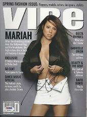 Mariah Carey Signed Vibe Magazine PSADNA Cert# X08543