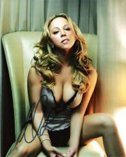 "MARIAH CAREY (VERY SEXY!) - HITS Include ""EMOTIONS"", ""MUSIC BOX"" and ""MERRY CHRISTMAS"" Signed 8x10 Color Photo"