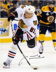 Marian Hossa Chicago Blackhawks 2013 Stanley Cup Final Champions Autographed 8'' x 10'' Photograph - Mounted Memories