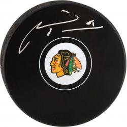 Chicago Blackhawks Marian Hossa Autographed Puck - Mounted Memories