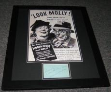 Marian & Jim Jordan Signed Framed 16x20 Fibber McGee & Molly Photo Display JSA