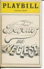 Marian Mercer Kate Reid Paul Rudd Bosoms And Neglect 1979 Opening Night Playbill