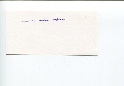 Marian Seldes Tony Winner Broadway Theatre America Hall of Fame Signed Autograph