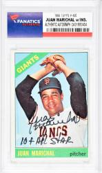 Juan Marichal San Francisco Giants Autographed 1966 Topps #420 Card with 10 X All Star Inscription - Mounted Memories  - Mounted Memories