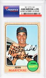 Juan Marichal San Francisco Giants Autographed 1967 Topps #205 Card with 10 X All Star Inscription - Mounted Memories  - Mounted Memories