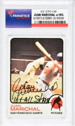 Juan Marichal San Francisco Giants Autographed 1973 Topps #480 Card with 10 X All Star Inscription - Mounted Memories  - Mounted Memories