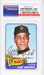 Juan Marichal San Francisco Giants Autographed 1965 Topps #50 Card with Dominican Dandy Inscription - Mounted Memories  - Mounted Memories