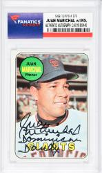 Juan Marichal San Francisco Giants Autographed 1969 Topps #370 Card with Dominican Dandy Inscription - Mounted Memories  - Mounted Memories