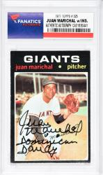 Juan Marichal San Francisco Giants Autographed 1971 Topps #325 Card with Dominican Dandy Inscription - Mounted Memories  - Mounted Memories