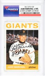 Juan Marichal San Francisco Giants Autographed 1964 Topps #280 Card with HOF 83 Inscription - Mounted Memories  - Mounted Memories