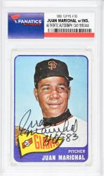 Juan Marichal San Francisco Giants Autographed 1965 Topps #50 Card with HOF 83 Inscription - Mounted Memories  - Mounted Memories