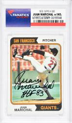 Juan Marichal San Francisco Giants Autographed 1973 Topps #330 Card with HOF 83 Inscription - Mounted Memories  - Mounted Memories