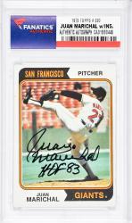 Juan Marichal San Francisco Giants Autographed 1973 Topps #330 Card with HOF 83 Inscription - Mounted Memories  - Mounted Memories