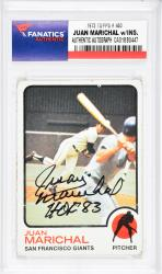 Juan Marichal San Francisco Giants Autographed 1973 Topps #480 Card with HOF 83 Inscription - Mounted Memories  - Mounted Memories