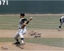 "Juan Marichal San Francisco Giants Autographed 16"" x 20"" Hands Over Head Photograph with HOF 83 Inscription"