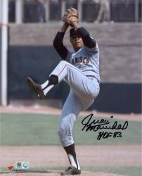 Juan Marichal San Francisco Giants Autographed 8'' x 10'' Pitch Delivery Photograph with HOF 83 Inscription - Mounted Memories  - Mounted Memories