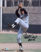 "Juan Marichal San Francisco Giants Autographed 8"" x 10"" Pitch Delivery Photograph with HOF 83 Inscription"