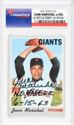 Juan Marichal San Francisco Giants Autographed 1970 Topps #210 Card with No Hitter 6-15-63 Inscription - Mounted Memories  - Mounted Memories