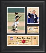 "Juan Marichal San Francisco Giants Framed 15"" x 17"" HOF Collage with Piece of Game-Used Ball"
