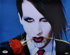 Marilyn Manson Autographed Photo - 11x14 PSA/DNA