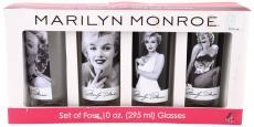 Marilyn Monroe 4 PC 10 oz Glass Set