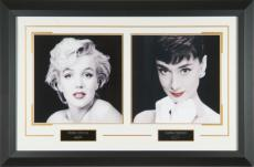 Marilyn Monroe & Audrey Hepburn Red Lips Framed Art Prin
