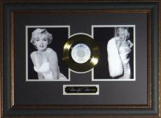 Marilyn Monroe Laser Engraved Signature Gold Record Display