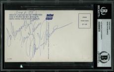"Marilyn Monroe ""Love & Kisses"" Signed United Airlines Postcard BAS Slabbed"