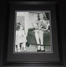 Marilyn Monroe Reading to 3 Year Old Framed 11x14 Photo Display