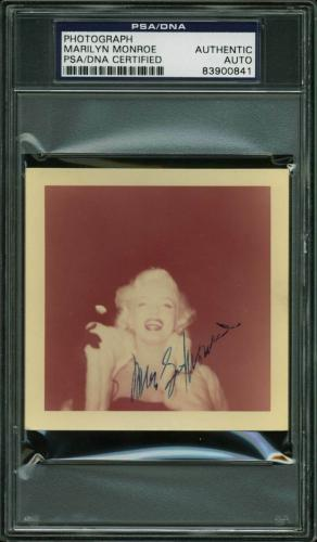 Marilyn Monroe Signed 3.5x3.5 Color Snapshot 1955 Photo PSA Slabbed 1