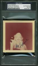 Marilyn Monroe Signed 3.5x3.5 Color Snapshot 1955 Photo PSA Slabbed 1