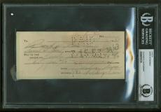 Marilyn Monroe Signed Autographed 1953 Hand Written Bank Check Beckett BAS