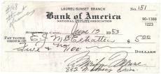 Marilyn Monroe Signed Autographed HAND WRITTEN 1953 Check Beckett BAS