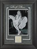 Marilyn Monroe Signed & Framed 3.25x3.25 Cut Signature JSA #Z02755
