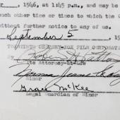 Marilyn Monroe Signed Movie Contract (Norma Jeane Dougherty) 1946 20th Century Fox (Approval) – JSA Full LOA