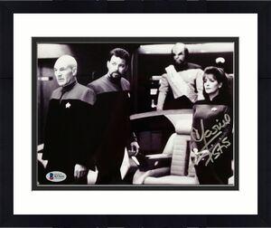 MARINA SIRTIS Signed 8x10 Photo #1 Star Trek Deanna Troi Auto w/ Beckett BAS COA