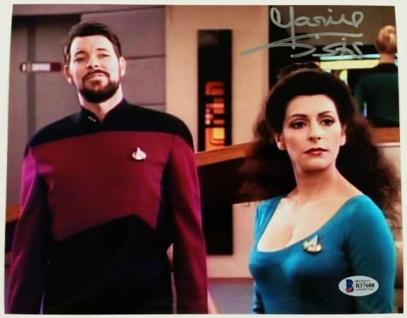 MARINA SIRTIS Signed 8x10 Photo #3 Star Trek Deanna Troi Auto w/ Beckett BAS COA