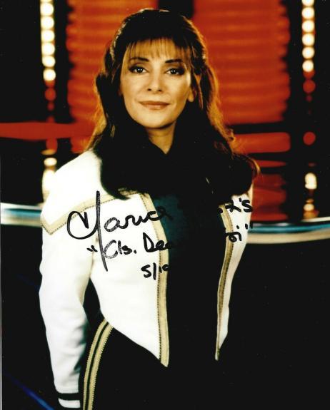 Marina Sirtis Signed & Inscribed Star Trek Insurrection 8x10 Photo Deanna Troi