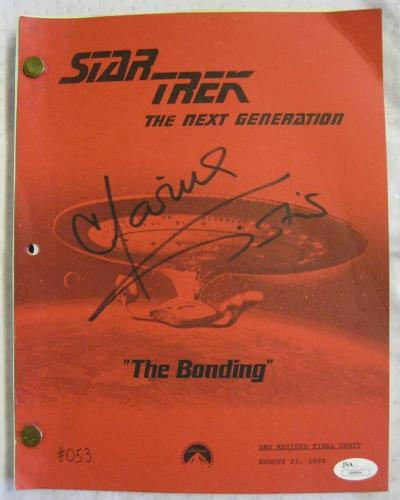 "Marina Sirtis Signed Star Trek Next Generation ""The Bonding"" Script Auto JSA COA"