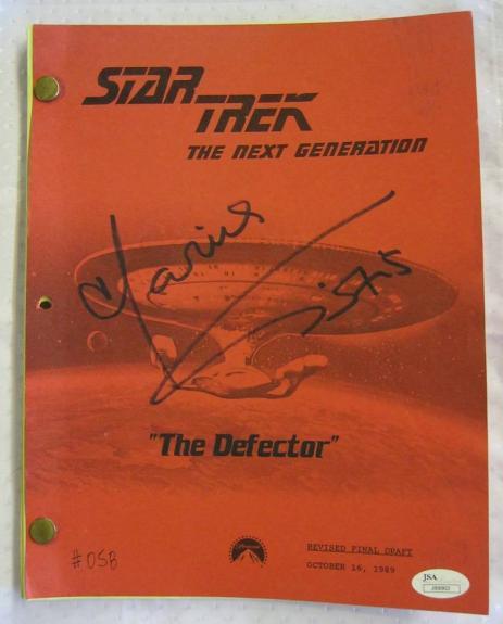 Marina Sirtis Signed Star Trek Next Generation The Defector Script Auto JSA COA