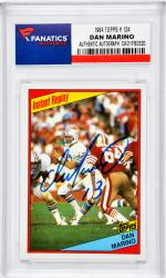 Dan Marino Miami Dolphins Autographed 1984 Topps #124 Card