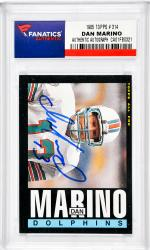 Dan Marino Miami Dolphins Autographed 1985 Topps #314 Card