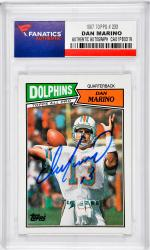 Dan Marino Miami Dolphins Autographed 1987 Topps #233 Card