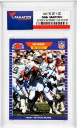 Dan Marino Miami Dolphins Autographed 1989 Pro Set #220 Card