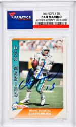 Dan Marino Miami Dolphins Autographed 1991 Pacific #269 Card - Mounted Memories