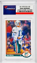 Dan Marino Miami Dolphins Autographed 1991 Upper Deck #255 Card - Mounted Memories