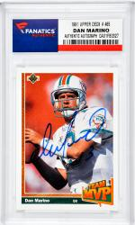 Dan Marino Miami Dolphins Autographed 1991 Upper Deck #465 Card - Mounted Memories