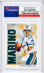 Dan Marino Miami Dolphins Autographed 1991 Upper Deck #83 Card - Mounted Memories