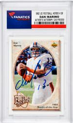 Dan Marino Miami Dolphins Autographed 1992 Upper Deck Football Heroes #29 Card